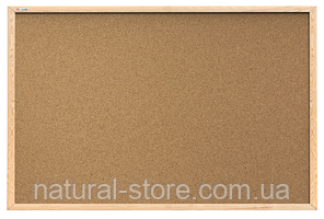 """Пробкова дошка для нотаток 100х80см в дерев'яній рамі TM """"ALL boards"""""""