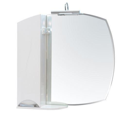Зеркало Аква Родос Глория с пеналом и подсветкой (ZGLP75 л), 754х170х820 мм