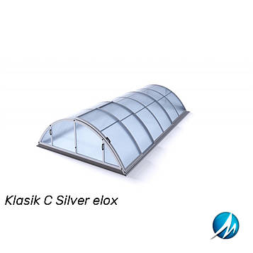 Павільйон для басейну Klasik C 5,7х10,7х1,55м - Silver elox