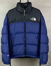 Мужская Зимняя куртка The North Face темно-синяя
