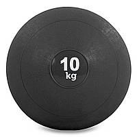 М'яч для кросфіта і фітнесу набивнийМедичний слембол 10кг ZELART Гума Чорний(FI-5165-10)