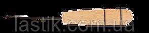 /Шило канцелярское деревянная ручка длина иглы 6 см по 10 шт в упаковке