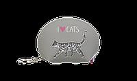 Кейс для монет CAT LOVER125x85x45 см серый (декор: глиттерный кот)