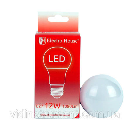 ElectroHouse LED лампа E27 / 4100K / 12W 1080Lm /220° A60, фото 2