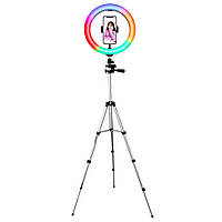 Лампа кольцевая 28 см со штативом CXB - RGB 300, 25 Вт