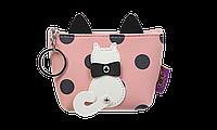 Кейс для монет PUSSY CAT 13x105x55 см розовый (декор: кот с подвижным хвостом)