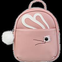 Рюкзак FUR RABBIT 24x21x8 см персиковый (декор: искмех)