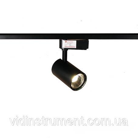 ElectroHouse LED світильник трековий 15W чорний 4100K 1200Lm, фото 2