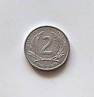 2 цента Восточные Карибы 2011 г., фото 1