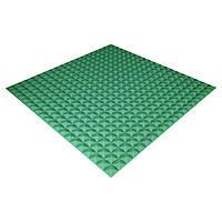 Панель з акустичного поролону Ecosound Pyramid Color 15 100х100 см Зелений