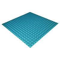Панель з акустичного поролону Ecosound Pyramid Color 15 100х100 см Синій