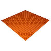 Панель з акустичного поролону Ecosound Pyramid Color 15 100х100 см Помаранчевий