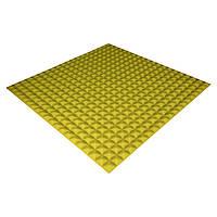Панель з акустичного поролону Ecosound Pyramid Color 15 100х100 см Жовтий