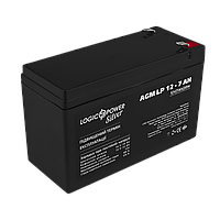 Аккумулятор кислотный AGM LogicPower LP 12 - 7,0 AH, фото 1