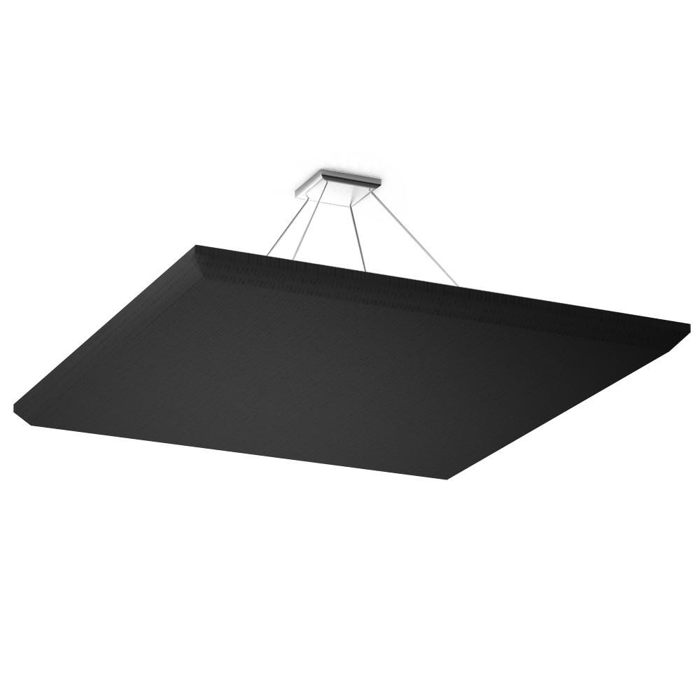 Акустическая подвесная звукопоглощающая панель Ecosound Quadro Black 70 100х100 см Черный