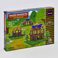 Конструктор магнитный JH 8857 (48) Коттедж 87 деталей в коробке