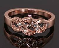 Прелестное кольцо с кристаллами Swarovski, покрытое слоями золота (102630)