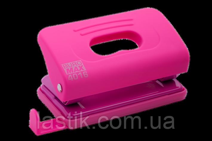 @Дирокол пластиковий RUBBER TOUCH до 10 л 120х58х59 мм рожевий, фото 2