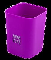 @$Стакан пластиковый для канц принадлежностей RUBBER TOUCH  фиолетовый