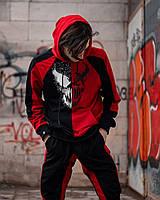 Спортивный костюм мужской весенний осенний Destroyer красный Комплект Худи + Штаны молодежный ЛЮКС качества