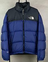 Мужской зимний пуховик The North Face темно-синий