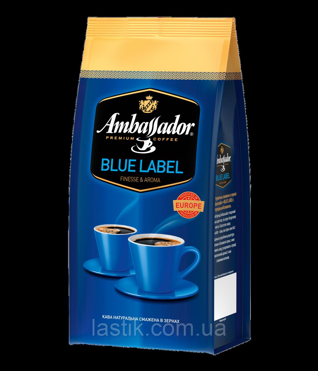 /Кофе в зернах 1000г*6 пакет Blue Label AMBASSADOR (PL)