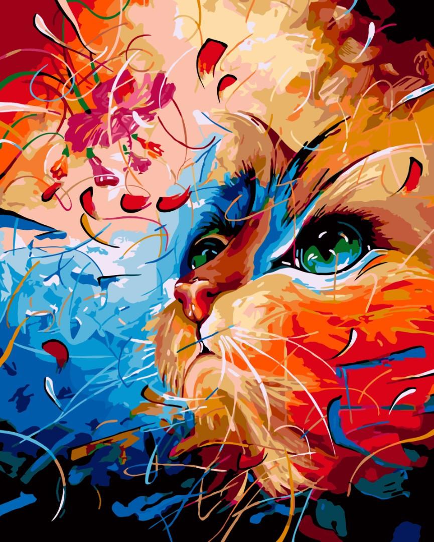 Картина по номерам 40х50 см Brushme Фантазийный кот (GX 3949)