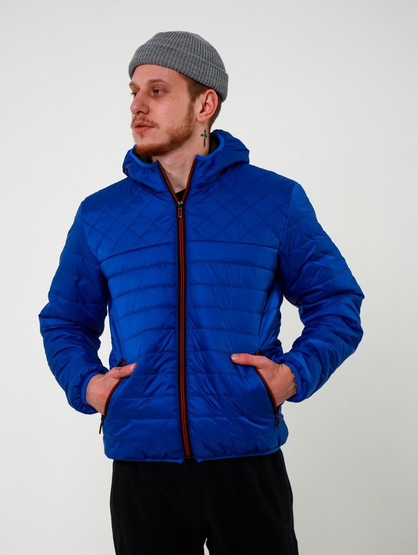 Мужская стеганная демисезонная куртка Хот   светло синяя