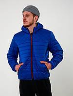 Мужская стеганная демисезонная куртка Хот   светло синяя, фото 1