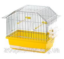 Клітка для дрібних птахів папуг канарок амадин TOLA цинк, 35*21,5*28 см