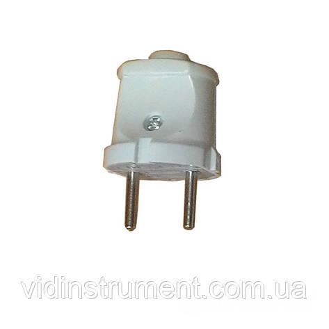 ElectroHouse Вилка без заземления Garant белая, фото 2