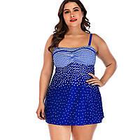 9088 Купальник для женщин (большой размер) Синий, фото 1