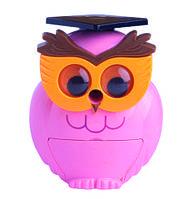 @$Точилка для карандашей СОВУШКА механическая розовая пл коробка KIDS Line
