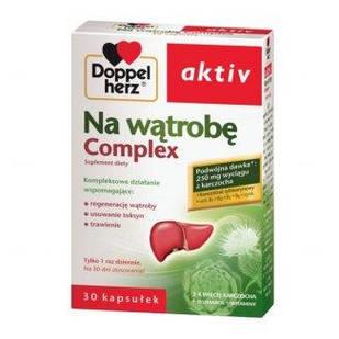 Doppelherz Aktiv, комплекс для здоровья печени с экстрактами артишока и расторопши 30 капсул на 30 дней