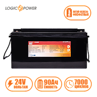 Акумулятор LP LiFePo-4 24 V - 90 Ah (BMS 60A) пластик
