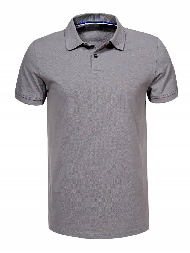 Чоловіча сіра футболка поло