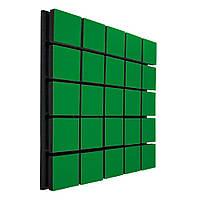 Акустична панель Ecosound Tetras Wood Green 73 50х50 см Зелений
