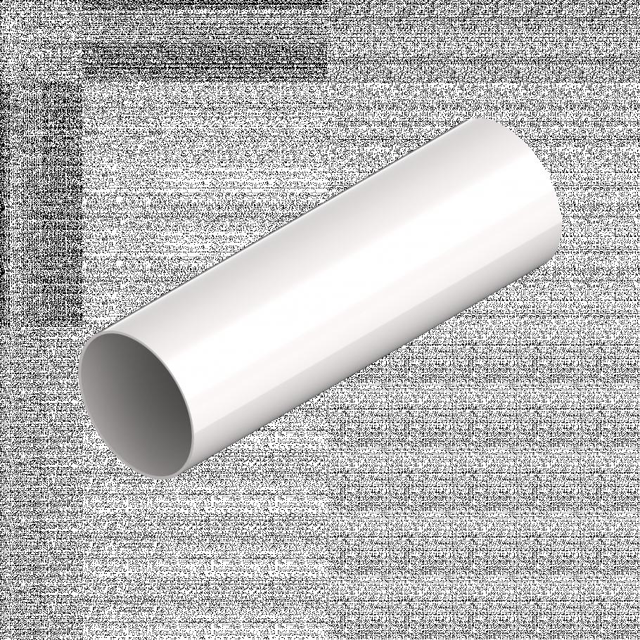 Труба водосточная INES 80 мм, водосточная система INES, Цвет RAL 9010 белый