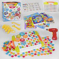Мозайка 78078 (10/2) шуруповерт 147 деталей 12 карточек FUN GAME