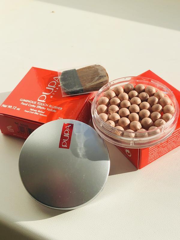 Шариковые румяна Pupa Milano Luminous Touch, Румяна шариковые, Румяна в шариках