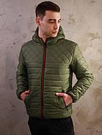 Мужская стеганная демисезонная куртка Хот цвета хаки, фото 1