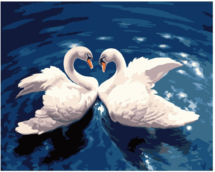 Картина по номерам 40х50 см Brushme Лебединый танец (GX 7498)