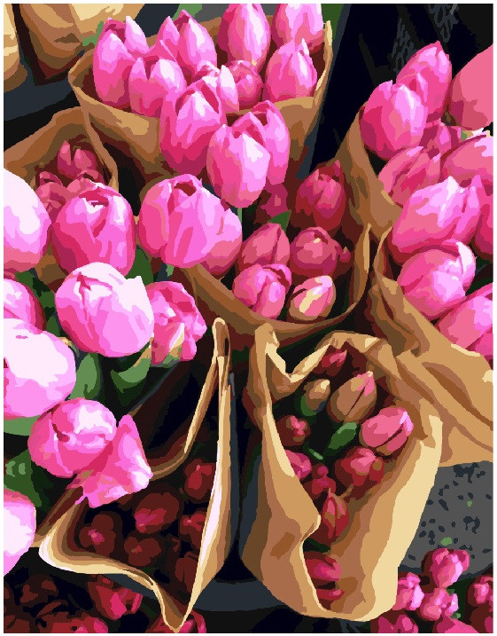 Картина по номерам 40х50 см Brushme Голландские тюльпаны (GX 7520)
