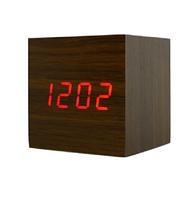 Электронные настольные часы в виде деревянного бруска VST-869-1, Часы электронные, Часы настольные, магазин