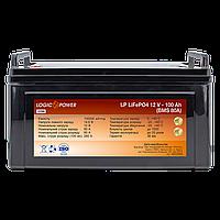 Аккумулятор LP LiFePO4 12 V - 100 Ah (BMS 80A) пластик