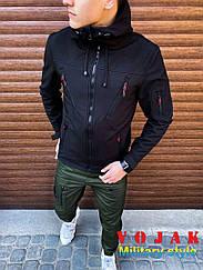 Куртка мужская  SoftShell Korol' Lev (черная)