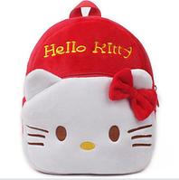 Детский мягкий рюкзачок для девочки Hello Kitty, Хеллоу Китти. Плюшевый рюкзак для детей в садик