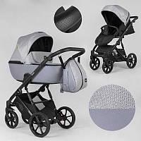 Дитяча коляска 2 в 1 Expander DEXO D-15022 (1) колір GreyFox водовідштовхувальна тканина + еко-шкіра