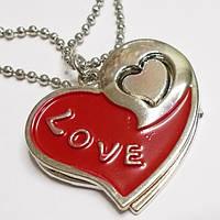 "Парные кулоны для влюбленных ""Два сердца""., фото 1"