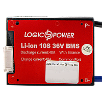 BMS плата Li-ion 36V 10S 40A симетрія